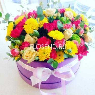 Цветы в коробке № 215