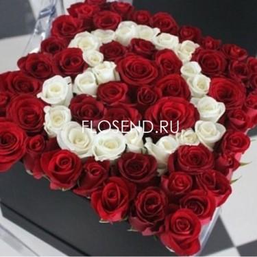 Цветы в коробке № 175
